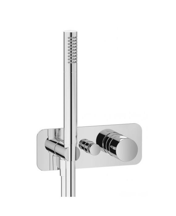 mitigeur douche encastré 2 sorties avec douchette à main onlyone 313 chromé