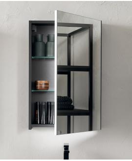 Miroir contemporain, salle de bain, avec porte G/D, L 60cm, P 15cm, H 75cm, comp link 4708.
