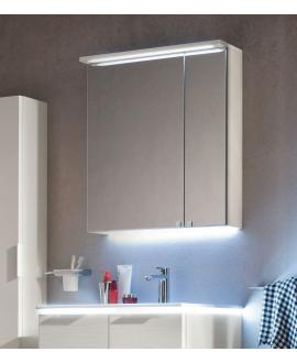 Miroir contemporain, salle de bain, avec 2 portes, L 70cm, P 15cm, H 75cm, comp link 4711.