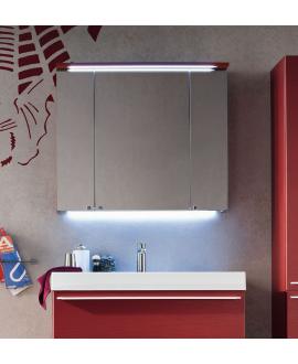 Miroir contemporain, salle de bain, avec 3 portes, L 90cm, P 15cm, H 75cm, comp link 4712.