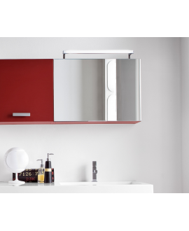 Miroir contemporain, salle de bain, avec 1 porte à abbatant, , L 85cm, P 20.8cm, H 50cm, comp swing 4616