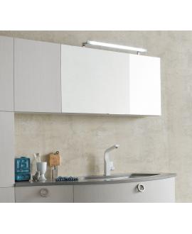 Miroir contemporain, salle de bain, avec 1 porte à abbatant, , L 95cm, P 20.8cm, H 50cm, comp swing 4617