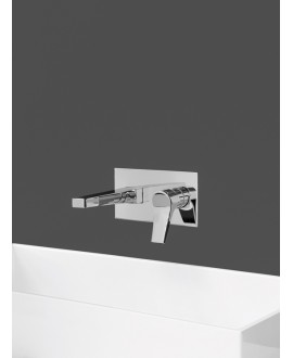 mitigeur lavabo encastré twitter tw206 chromé contemporain TW206R