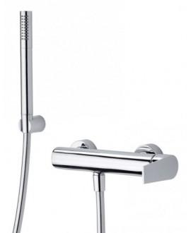 mitigeur douche mural avec douchette à main twitter tw350 chromé