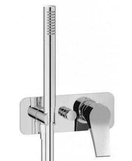 mitigeur douche encastré 2 sorties avec douchette à main twitter tw313 chromé