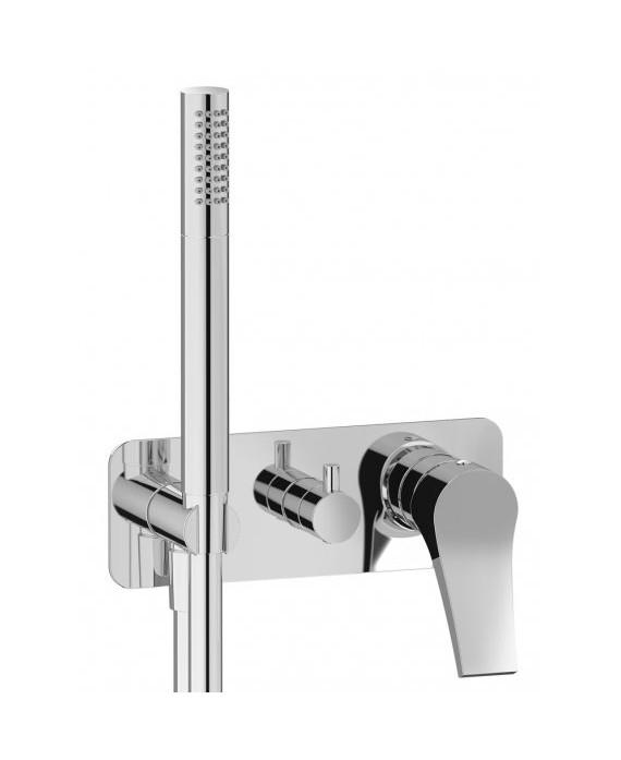 mitigeur douche encastré 3 sorties avec douchette à main twitter tw314 chromé