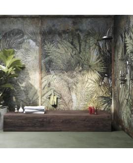 Papier peint vinyle pour mur de salle de bain OXIGEN_NKOIRB2001, jungle 2