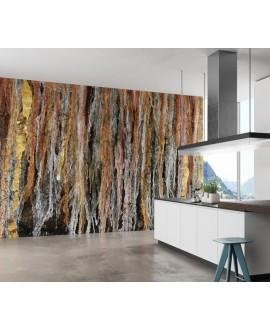 Papier peint vinyle pour mur de salle de bain BURKINABE_-INKARNR2101, art africain