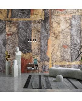 Papier peint vinyle pour mur de salle de bainDOGON_-INKANIN2101, art malien