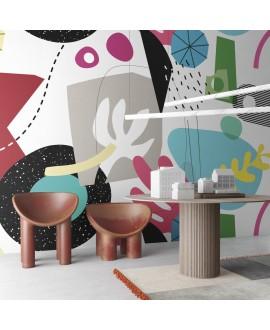 Papier peint vinyle pour mur de salle de bain EASY_GAMES_INKAIAO2001, chambre salle de bain enfant