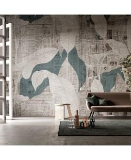 Papier peint vinyle pour mur de salle de bain EFUORI-LUOGO_INKGGTA20 feuilles blanches sur journal