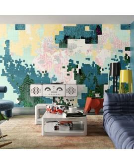 Papier peint vinyle pour mur de salle de bain INFINITE-CODING_INKIINR2001 chambre salle de bain enfant