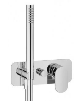 mitigeur douche encastré 2 sorties rond avec douchette main k2313 chromé moderne K2313R