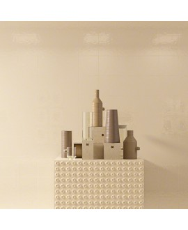 Carrelage imitation carreau ciment beige brillant bosselé 20x20cm V paula beige