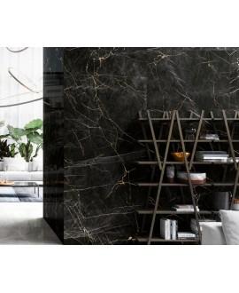 Carrelage imitation marbre noir zébré de blanc mat rectifié 60x60cm, 75x75cm, 75x150cm refmarquinia
