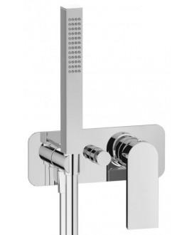 mitigeur douche encastré 2 sorties carré avec douchette main KH k3313 chromé