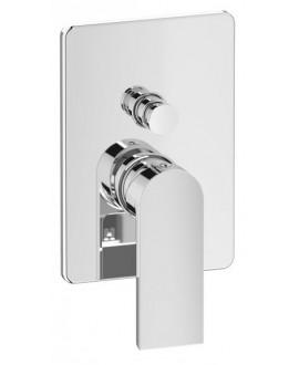 mitigeur douche encastré 2 sorties carré KH k3310 chromé