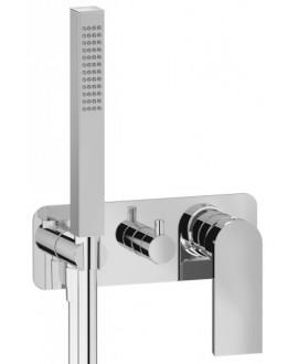mitigeur douche encastré 3 sorties carré avec douchette main KH k3314 chromé