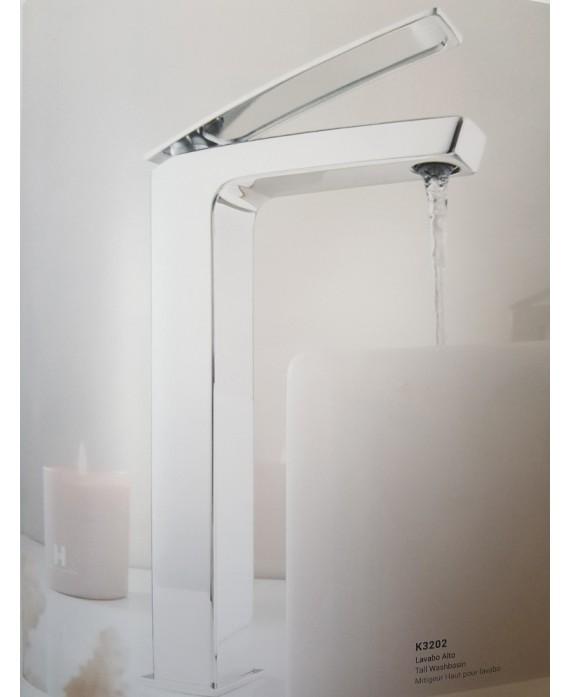 mitigeur lavabo réhaussé carré KH k3202 chromé