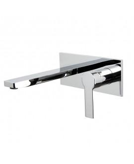 mitgeur lavabo encastré mast bec 199mm F3141LX5 chromé avec corps encastré F3500