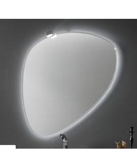 Miroir salle de bain, contemporain, ovale, avec éclairage, sans interupteur 90.3x98.5x2.6cm, compo rock1 4141