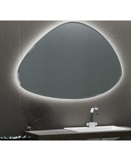 Miroir contemporain salle de bain, ovale, avec éclairage sans interupteur, 111.8x80x2.6cm, comp rock3 4143