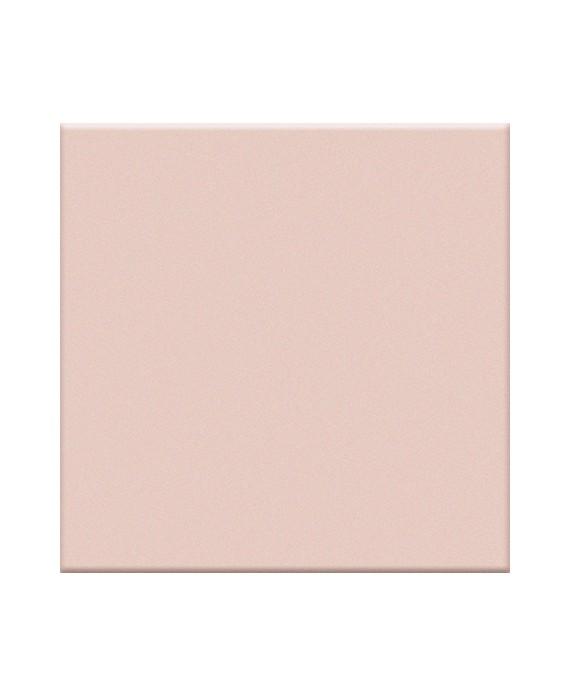 Mosaique sol et mur salle de bain rose mat piscine 5x5cm sur trame en grès cérame VO rosa inerni