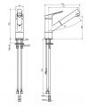 mitigeur évier  avec douchette extractive chromé F3768CR