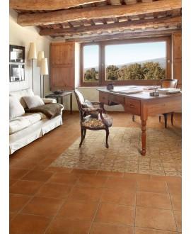 Carrelage imitation terre cuite rose, 30x30cm, 30x15cm et 15x15cm, santachiostri ambra