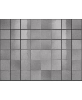 Carrelage effet zellige gris brillant nuancé, grès cérame piscine, salle de bain, 10x10cm, 5x5cm voriflessi argent