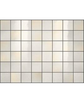 Carrelage effet zellige blanc brillant nuancé, grès cérame piscine, salle de bain, 10x10cm, 5x5cm voriflessi ghiaccio