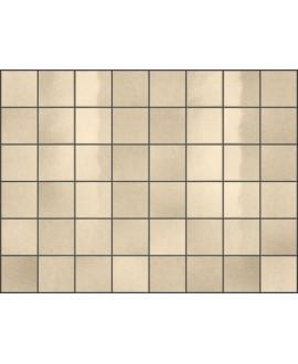 Carrelage effet zellige ivoire brillant nuancé, grès cérame piscine, salle de bain, 10x10cm, 5x5cm voriflessi avorio