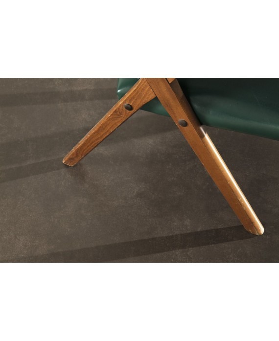 Carrelage imitation ciment béton, XXL 100x100cm, faible épaisseur : 6mm, ultra ciment marron