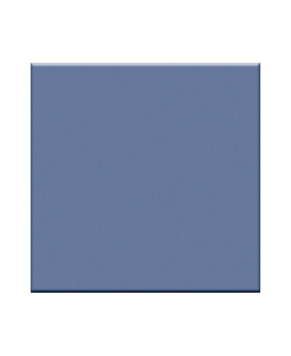 Mosaique bleu avio mat cuisine salle de bain sol et mur 5X5 cm VO blue avio