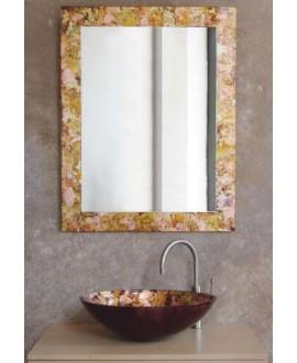 miroir avec cadre en verre décoré kimono 70x90cm