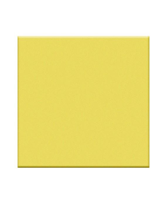 Mosaique jaune mat sol et mur cuisine salle de bain 5X5 cm sur trame VO cedro