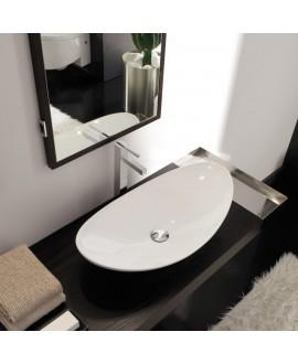 lavabo en céramique émaillée scazefiroP à poser  68x36x16.5 cm