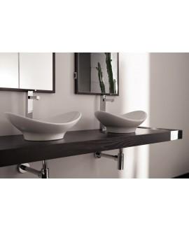lavabo en céramique émaillée scazefiroP à poser 49x36x18cm