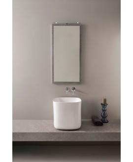 vasque en céramique émaillée scamoonP blanc brillant à poser 42x42x40 cm
