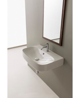 vasque moonR blanc brillant à poser ou suspendu 70x45x15 cm