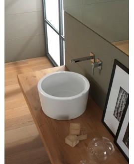 vasque bucketP blanc brillant à poser diamètre:35 cm, hauteur 22 cm