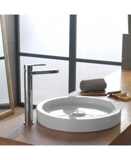 vasque en céramique émaillée scabucketP à poser diamètre:42 cm, hauteur 6 cm