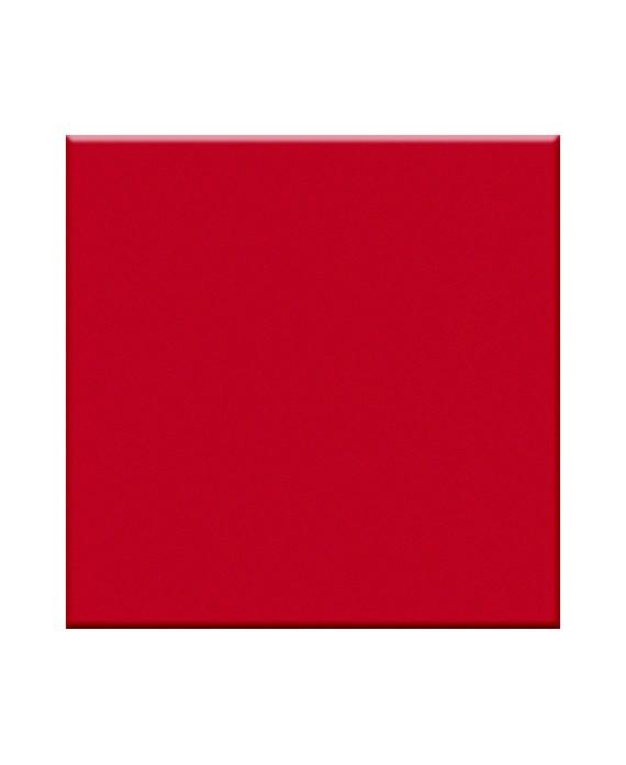 Mosaique rouge mat cuisine sol et mur salle de bainr 5X5 cm sur trame VO rosso