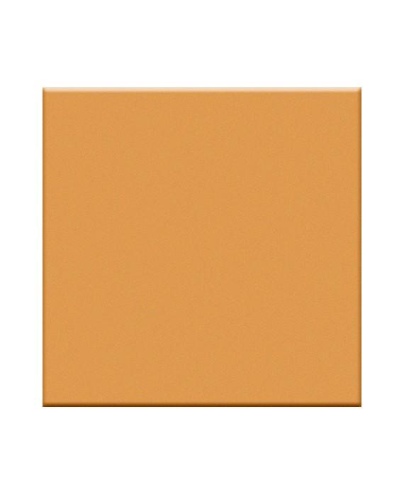 Mosaique orange mandarine mat salle de bain sol et mur cuisine  5X5 cm sur trame VO mandarino