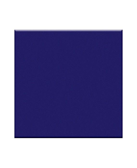 Mosaique bleu cobalte mat sol et mur salle de bain cuisine 5X5 cm sur trame VO cobalto