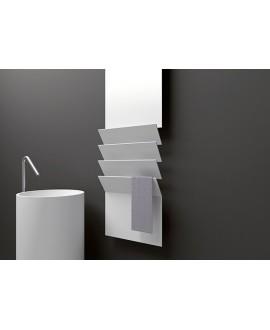 Sèche-serviette radiateur électrique design vertical salle de bain AntflapsB 201x35cm de couleur