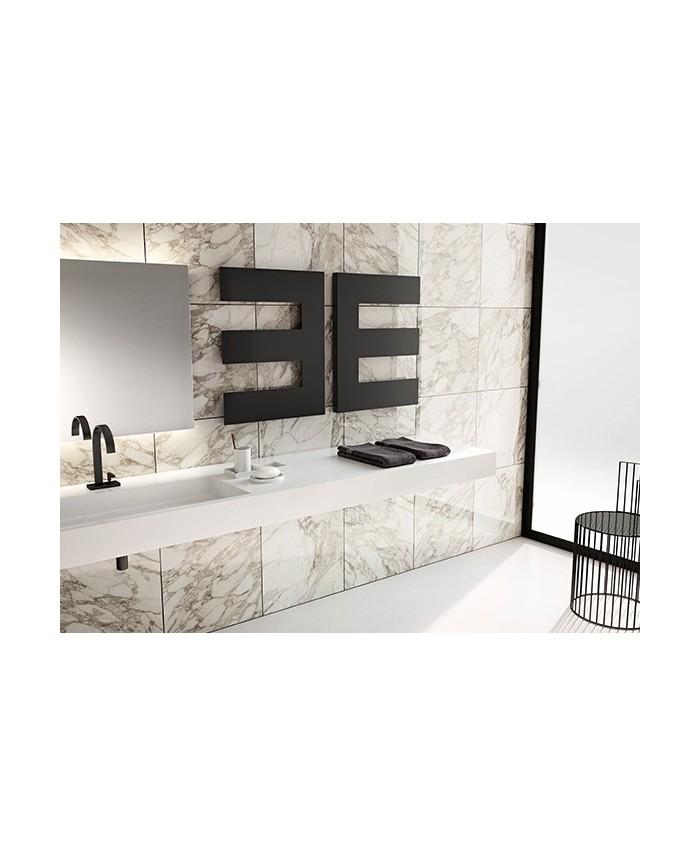 s che serviette lectrique petine gauche noir mat. Black Bedroom Furniture Sets. Home Design Ideas