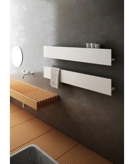 Sèche-serviette radiateur électrique design, salle de bain, AntT1P blanc mat sans fente porte-serviettes