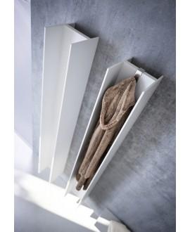 Sèche-serviette radiateur électrique design, AntT2V blanc mat