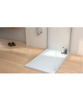 Receveur de douche Kore blanc avec bonde horizontale